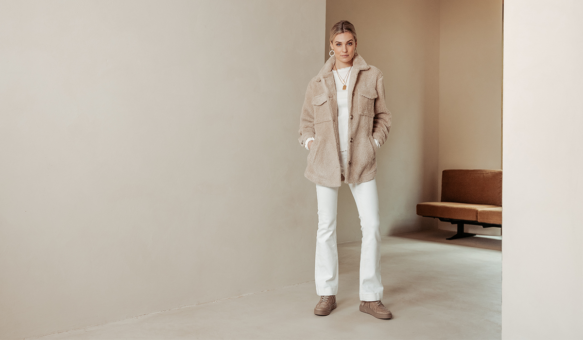 VIA VAI beige sneaker: Juno Lane