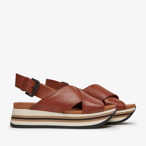 Mirte Strap bruine sandalen