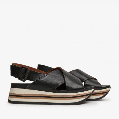 Mirte Strap black sandals