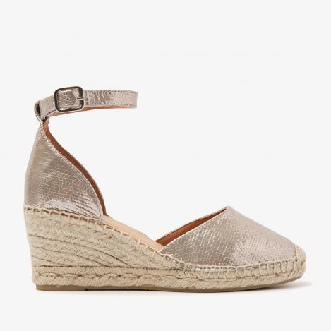 Flora Braid metallic espadrilles