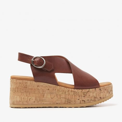 Sissel Raise brown sandals