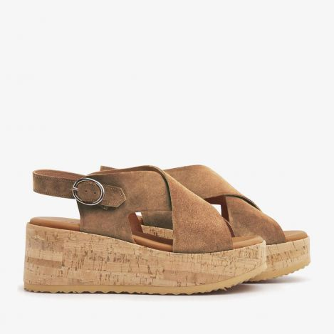 Sissel Raise sandals cognac