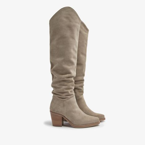 Anika Thrive beige high boots