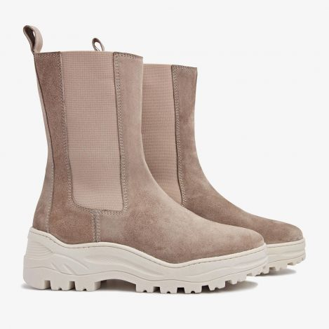 Hanna Dune beige hoge chelsea boots