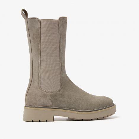 Alexis Zahir grijze hoge chelsea boots