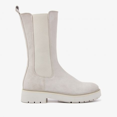 Alexis Zahir beige high chelsea boots