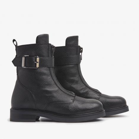 Viola Strip zwarte biker boots