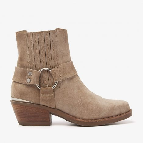 Paige Lou beige ankle boots