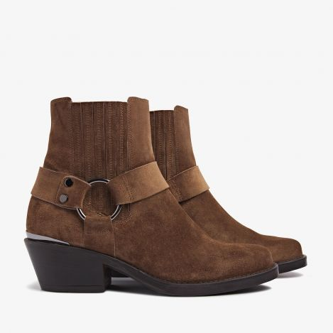 Paige Lou brown ankle boots