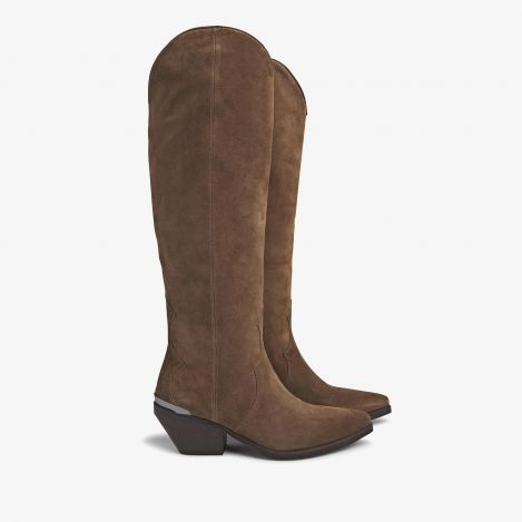 Jil Arya brown high boots