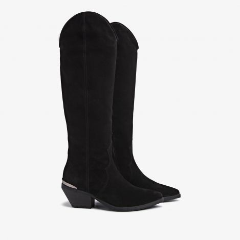 Jil Arya black high boots