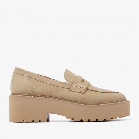 Lois Bell beige loafers