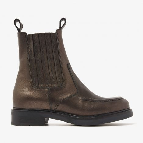 Johanna Vance bronze colored chelsea boots