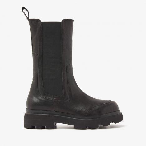 Livia Britt zwarte hoge chelsea boots