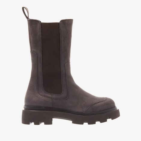 Livia Britt bruine hoge chelsea boots