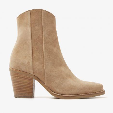 Anika Beau beige ankelstøvler
