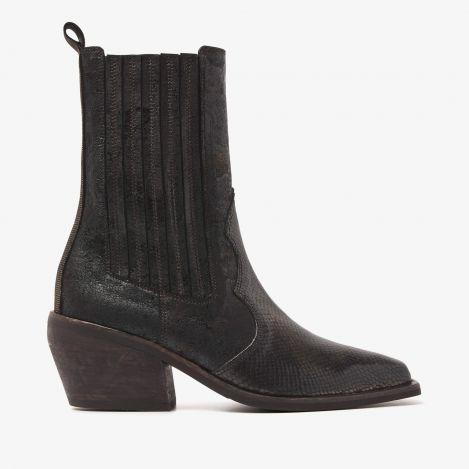 Eveline Rae bronze farvede ankelstøvler
