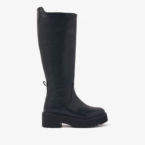 Bobbi Miles zwarte hoge laarzen