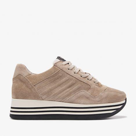 Mila Bow beige sneakers