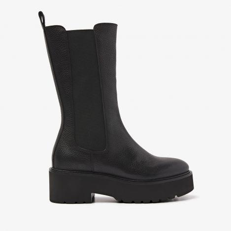 Bobbi Matt zwarte hoge chelsea boots