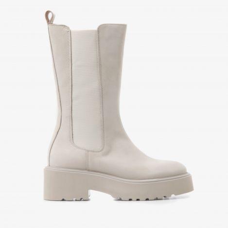 Bobbi Matt beige high chelsea boots