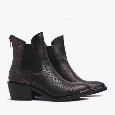 Kamila Dallas bronze colored ankle boots
