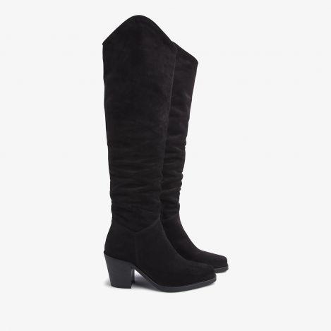 Anika Thrive sorte høje støvler
