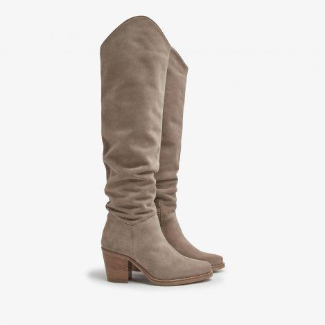 Anika Thrive beige high boots