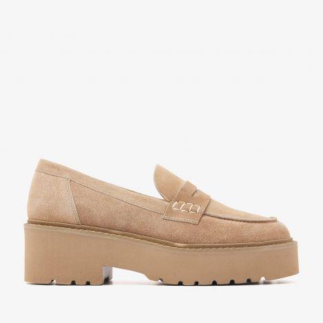 Lois Bell beige loafers