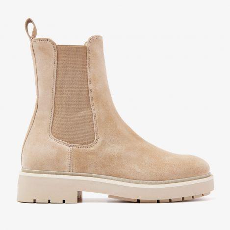 Alexis Zarah beige chelsea støvler