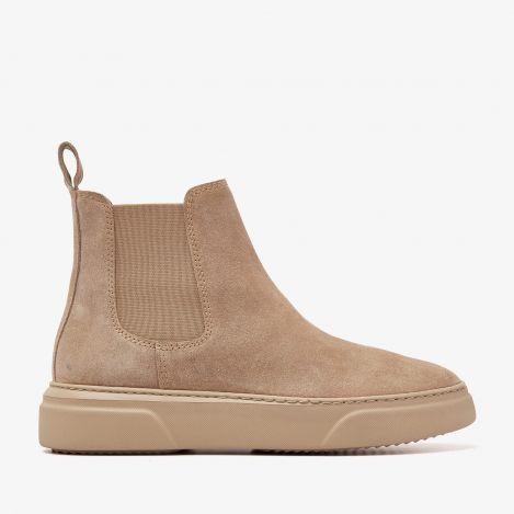 Juno Levy beige chelsea støvler