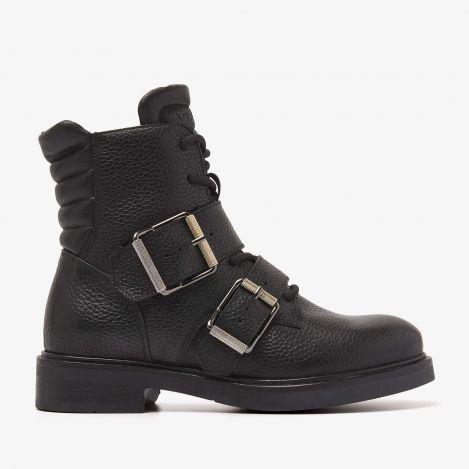Viola Combat zwarte biker boots