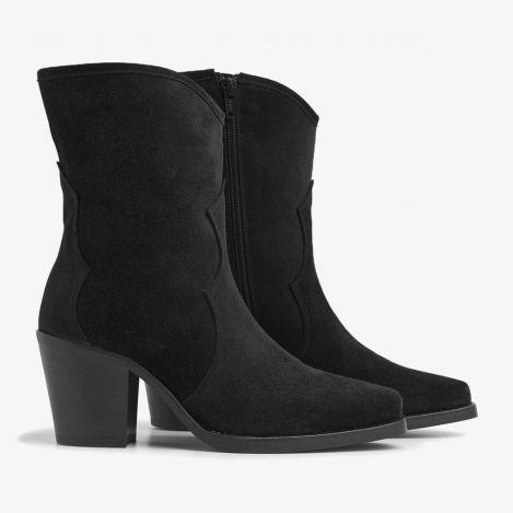 Anika Cliff sorte ankelstøvler