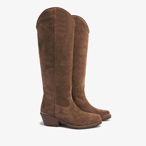 Paige South brune høje støvler