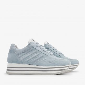 Mila Bow blue sneakers