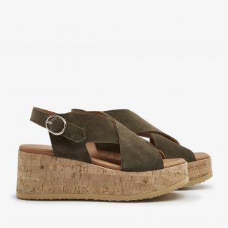 Sissel Raise groene sandalen