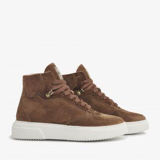 Juno Lee bruine sneakers