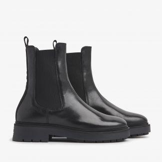Alexis Zarah zwarte chelsea boots