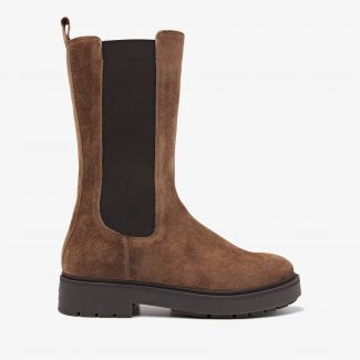 Alexis Zahir bruine hoge chelsea boots