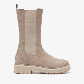 Alexis Zahir beige hoge chelsea boots