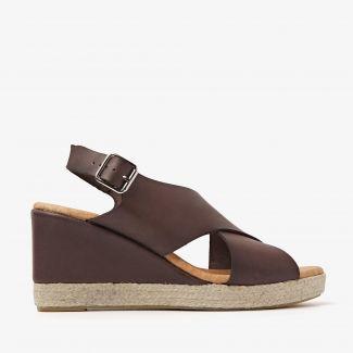 Paula Grace bruine sandalen