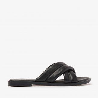 Harita Liv zwarte slippers