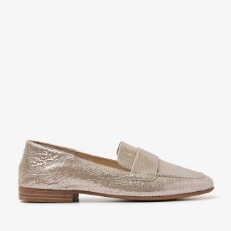Indiana Cleo metallic loafers