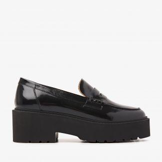 Lois Bell zwarte loafers