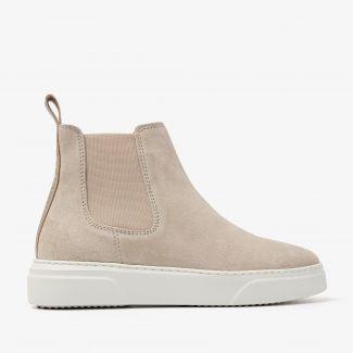Juno Levy beige chelsea boots
