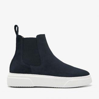 Juno Levy blauwe chelsea boots