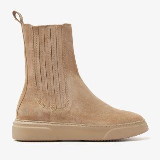 Juno Lyza beige chelsea boots