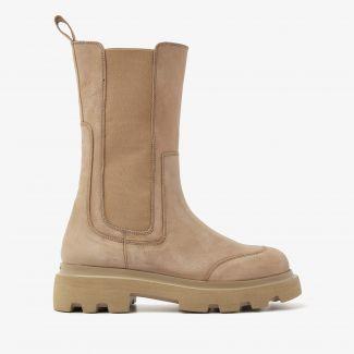 Livia Britt beige hoge chelsea boots