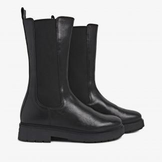 Alexis Zahir zwarte hoge chelsea boots