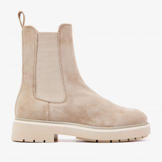 Alexis Zarah beige chelsea boots